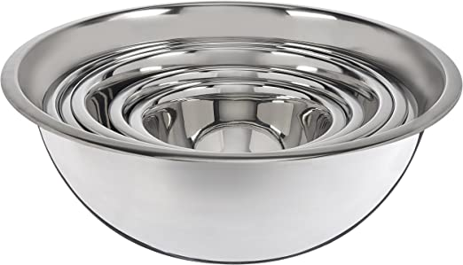 Premium Stainless Steel Mixing Bowls (Set of 6) Stainless Steel Mixing Bowl Set