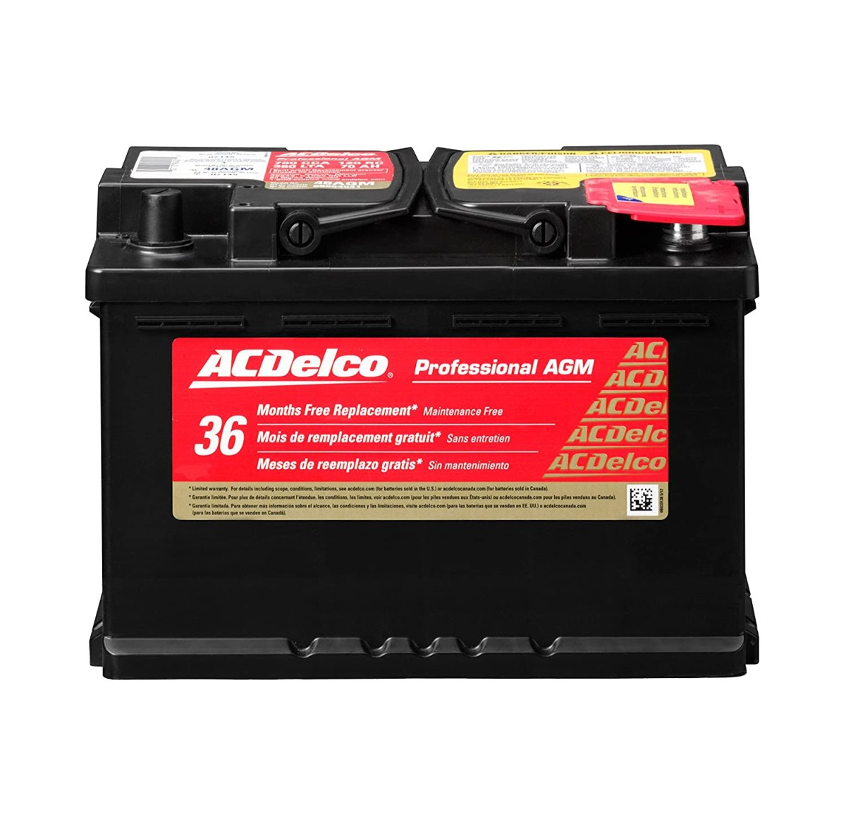 Best Car Batteries  ACDelco 48AGM Professional AGM Automotive BCI Group 48 Battery
