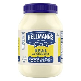 Amazon.com : Hellmann's Real Mayonnaise For a Creamy Condiment for  Sandwiches and Simple Meals Real Mayo Gluten Free, Made With 100% Cage-Free  Eggs 30 oz : Grocery & Gourmet Food