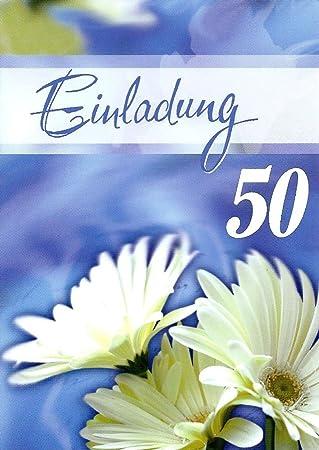 Einladungskarten 50 Geburtstag Frau Mann Mit Innentext