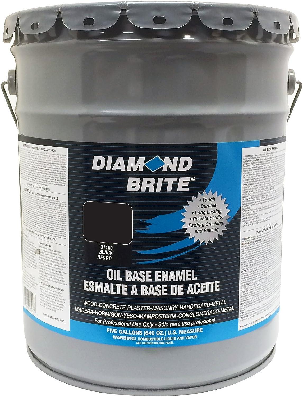 Diamond Brite Paint 31100 5 Gallon Oil Base All Purpose Enamel Paint Black House Paint Amazon Com