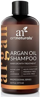 Art Naturals Organic Argan Oil Hair Loss Shampoo for Hair Regrowth 16 Oz