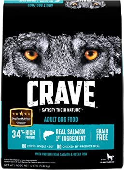 CRAVE Grain Free High Protein Adult Dry Dog Food, Salmon