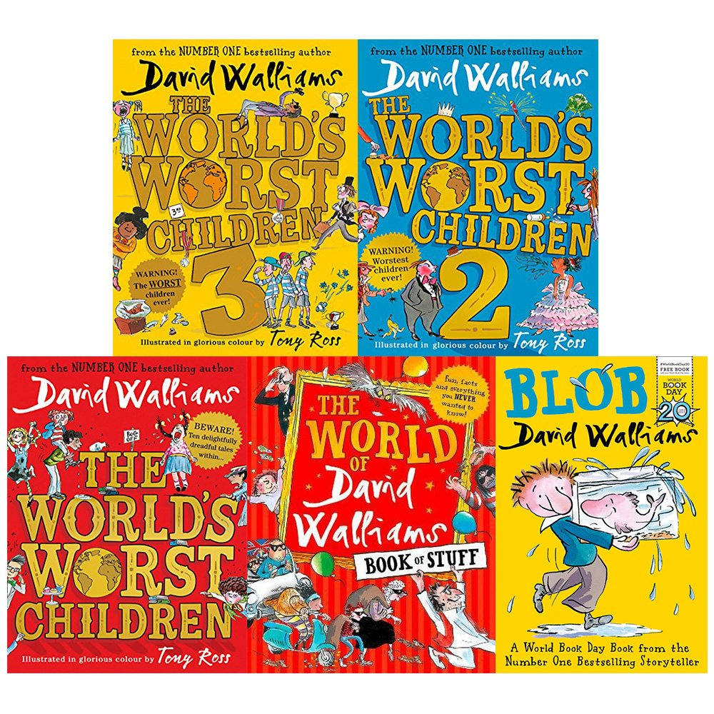 Worlds worst children 1, 2 and 3 [hardcover], david walliams book of stuff  and blob 5 books collection set: Amazon.co.uk: David Walliams:  9789123675463: Books