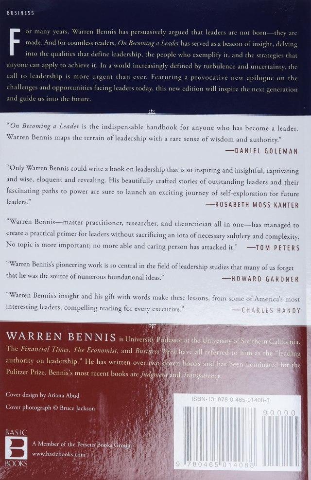 On Becoming a Leader - Bennis, Warren G. - Amazon.de: Bücher