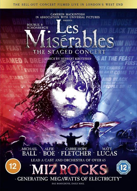 Le concert des Miserables en DVD  cadeaux de noel comédie musicale