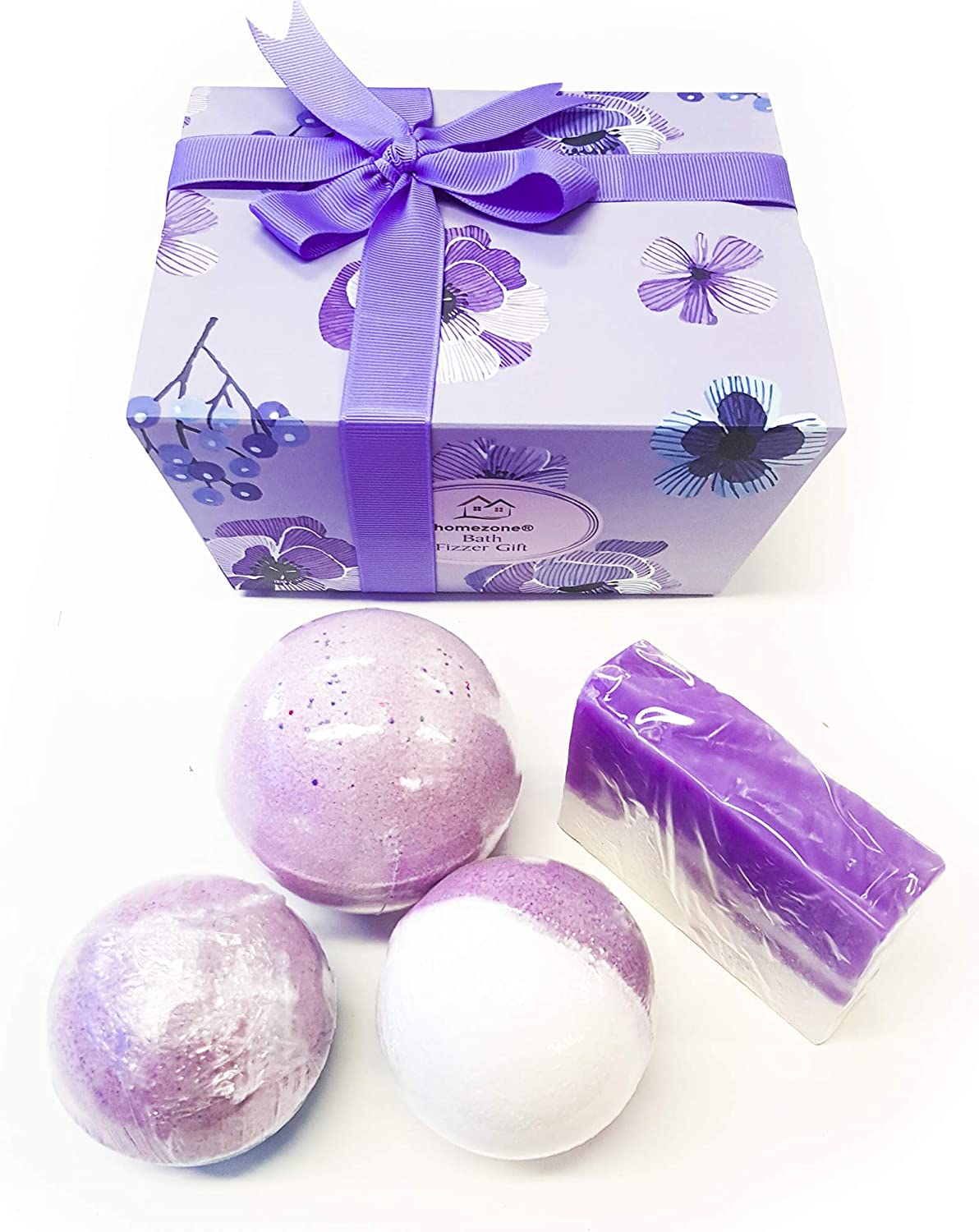 Homezone 4pc Luxury Bath Bomb And Shea Butter Soap Gifts For Women Gift Ideas Gift Luxury Christmas Organic Essential Oils Beauty Gift Set Ladies Womens Bath Bombs Amazon Co Uk Beauty
