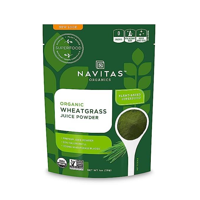 Navitas Organics Wheatgrass Juice Powder, 1oz Bag (56 servings)
