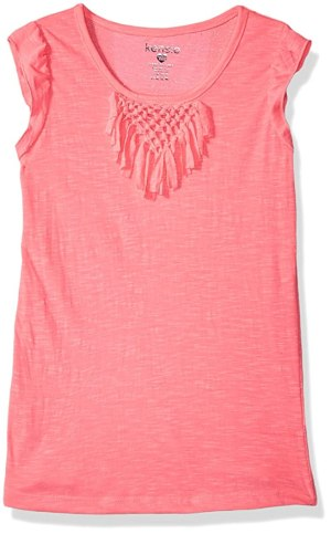Kensie Little Girls' Fashion Tank, Neon Pink, 4
