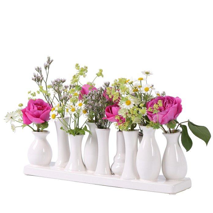 Frühlingsdekoration Vasen
