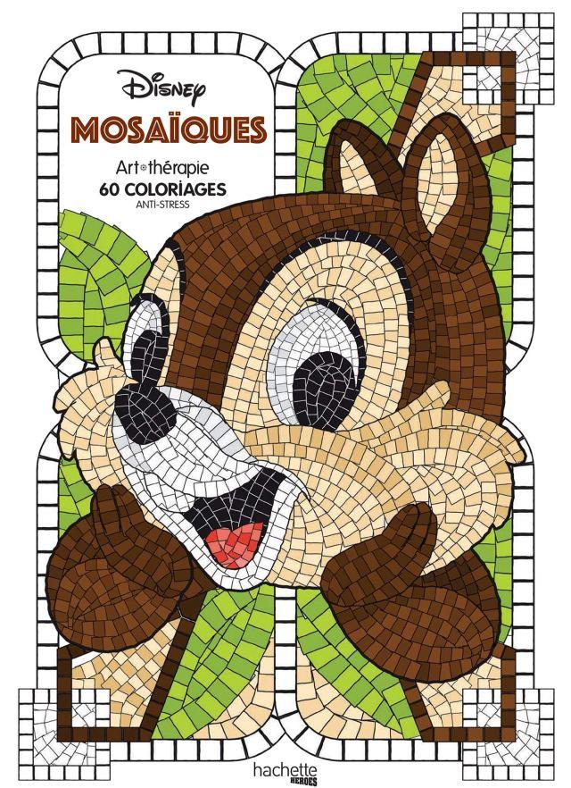 Mosaïques Disney: 30 coloriages anti-stress : Guérin, Jean-Luc