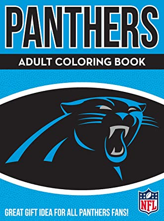 Amazon Com Nfl Carolina Panthers Adult Coloring Booknfl Adult Coloring Book Blue White 96 Coloring Pages Clothing