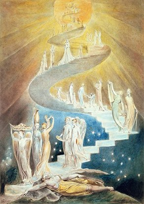Amazon.com: William Blake: Jacob's Ladder. Fine Art Print/Poster. Size A3  (42cm x 29.7cm): Posters & Prints