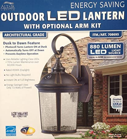 Altair Lighting Led Outdoor Lantern