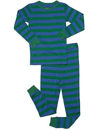 Leveret Big Boys Striped 2 Piece Pajama Set 100 Cotton