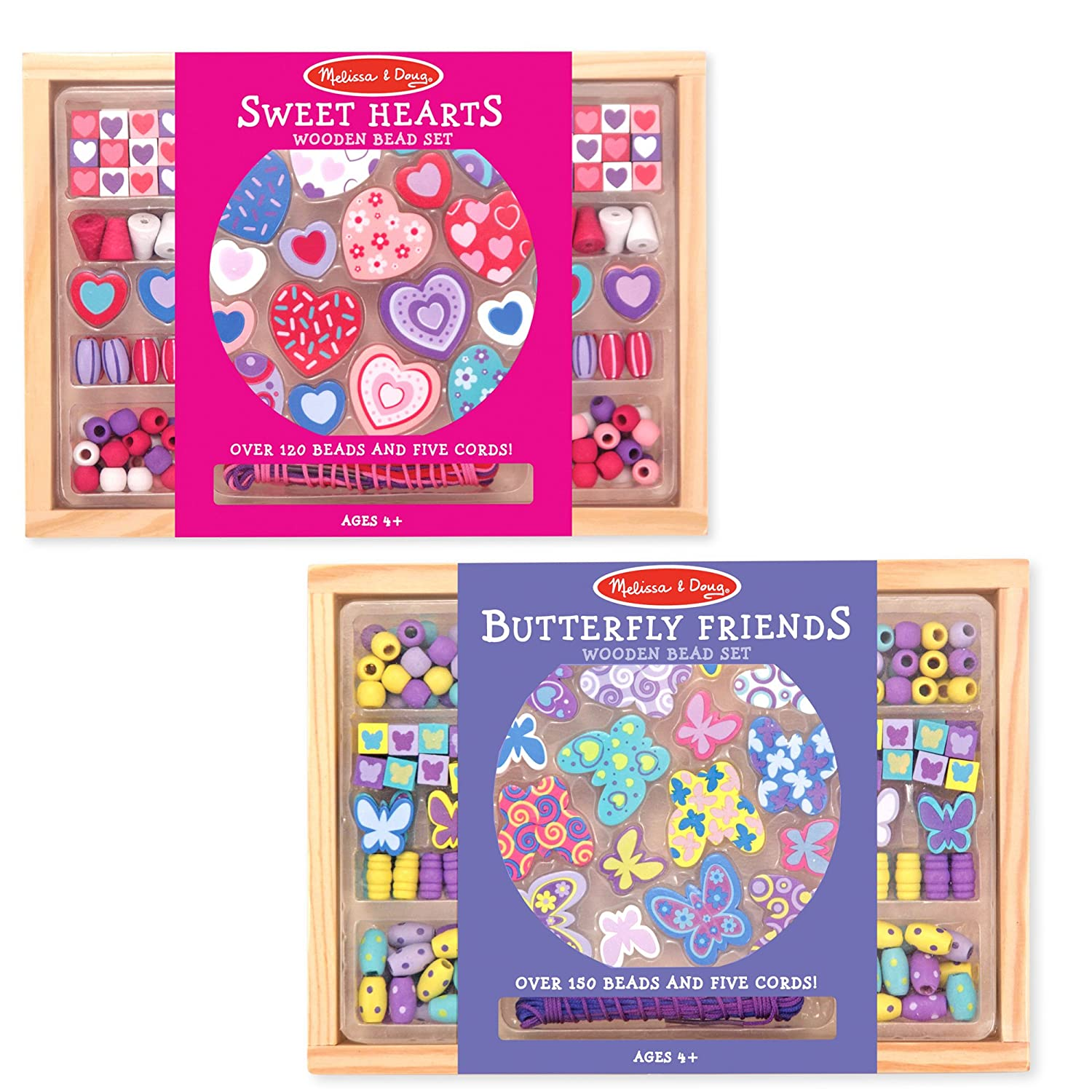 Melissa & Doug Sweet Hearts and Butterfly Friends Bead Set