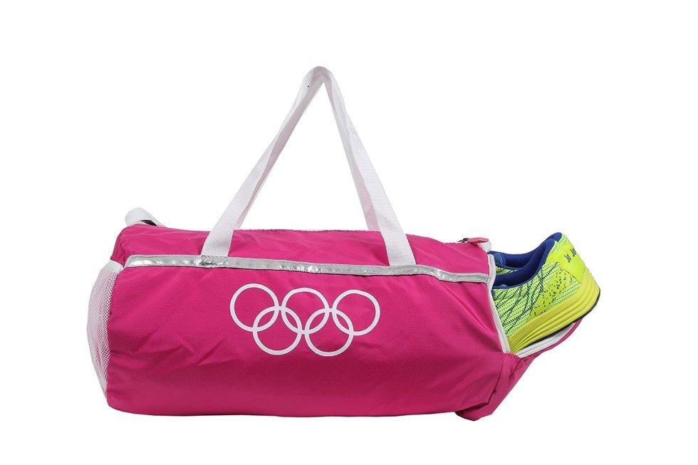 Pink Travel Duffel Luggage Girls/Women Gym Bag with Shoe Pocket under Polestar Travel Bag