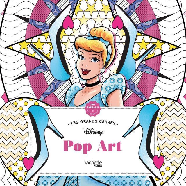 Grands carrés Disney Pop Art: Coloriages anti-stress : Lavaud