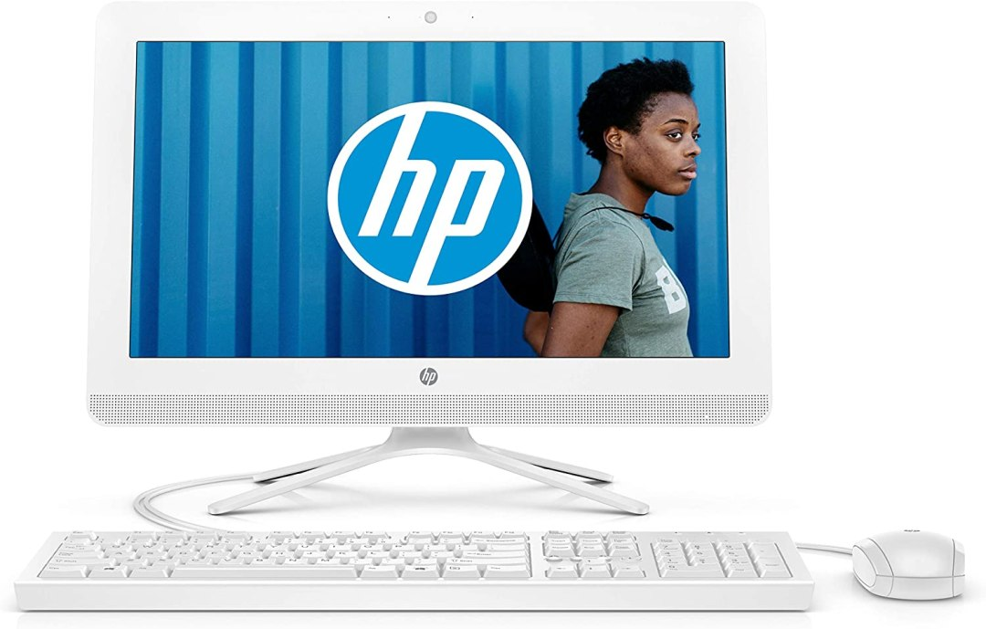 HP 20-c434nf Ordinateur Tout-en-un 19,5'' FHD Blanc (Intel Celeron, 4 Go de RAM, 1 To de Stockage, Windows 10)