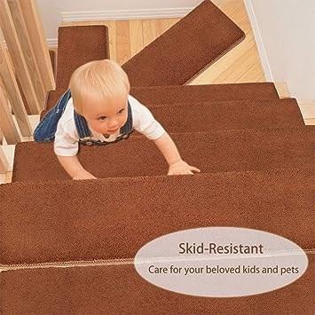 Pure Era Bullnose Carpet Stair Treads Set Of 14 Non Slip Self   Pure Era Carpet Stair Treads   Self Adhesive Bullnose   Skid Resistant   Stair Railing   Grey   Non Slip