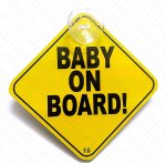 Fusion Baby on Board and One Suction Cup (Yellow)