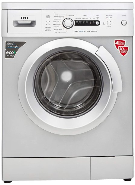 IFB 6 kg Fully-Automatic Front Loading Washing Machine Under 20000 (Diva Aqua SX, Silver, Inbuilt Heater, Aqua Energie water softener)