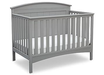 Amazon Com Delta Children Archer Solid Panel  Convertible Baby Crib Grey Baby