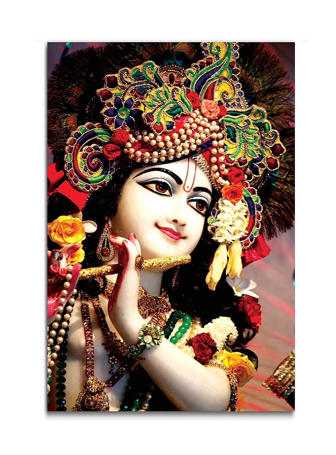Tamatina God Wall Poster Lord Krishna Large Size Poster Hd Quality 36 Inches X 24 Inches 92 Cms X 61 Cms Amazon In Home Kitchen
