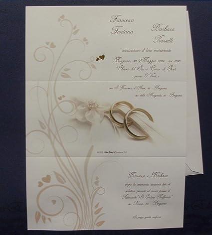 Inviti Matrimonio Made In Italy Cod E9131 Set Composto