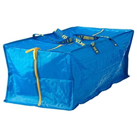 Ikea Frakta Storage Bag Blue 2 Pack