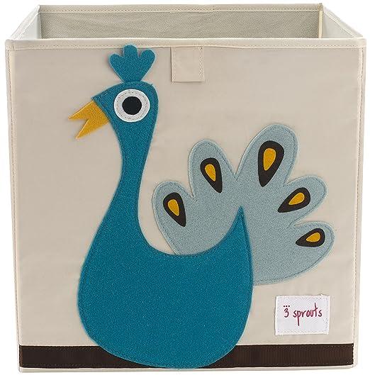 Fabric Peacock Storage Box