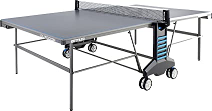Kettler Outdoor  Weatherproof Table Tennis Table  Player Bundle With Cover