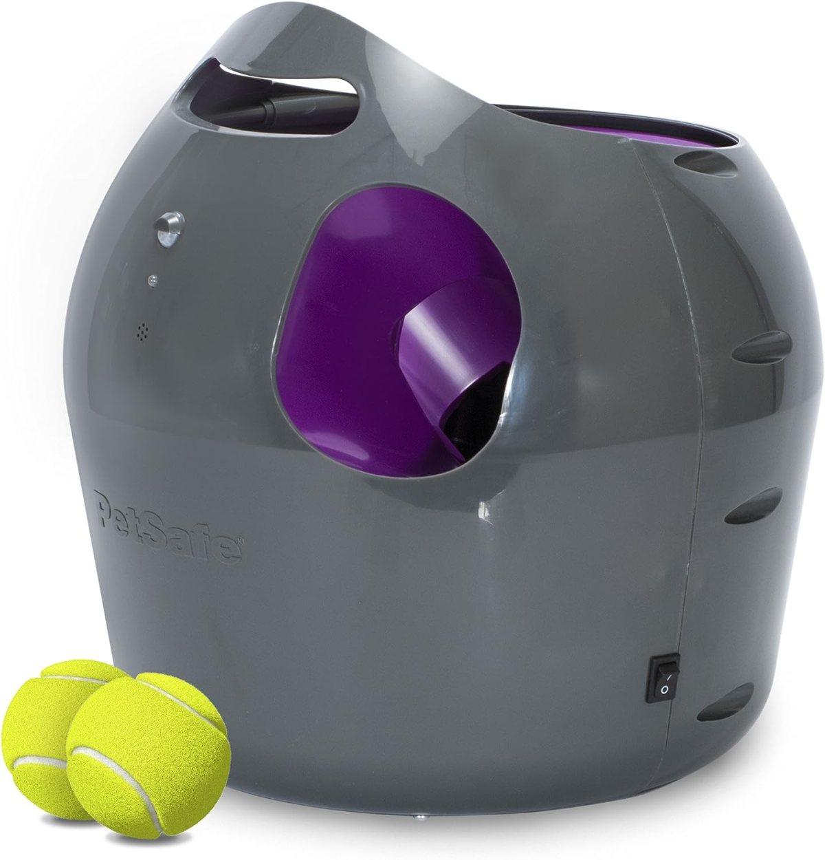 PetSafe: Lanzador automático de Pelotas de Tenis para Perros, Juguete Interactivo para Perros, Entrenamiento de Juego en Interiores o Exteriores, Configuración múltiple, Resistente al Agua