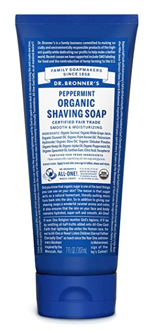Dr. Bronner's Organic Shaving Soap Peppermint 7 oz