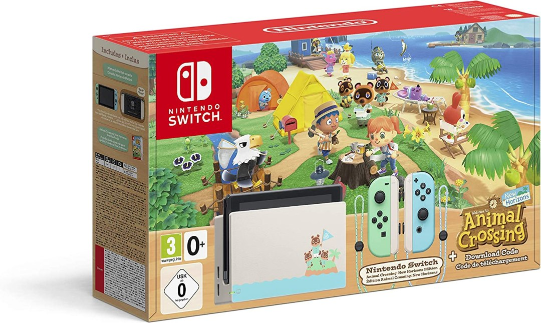 Console Nintendo Switch Animal Crossing : New Horizons Edition + Code de Téléchargement