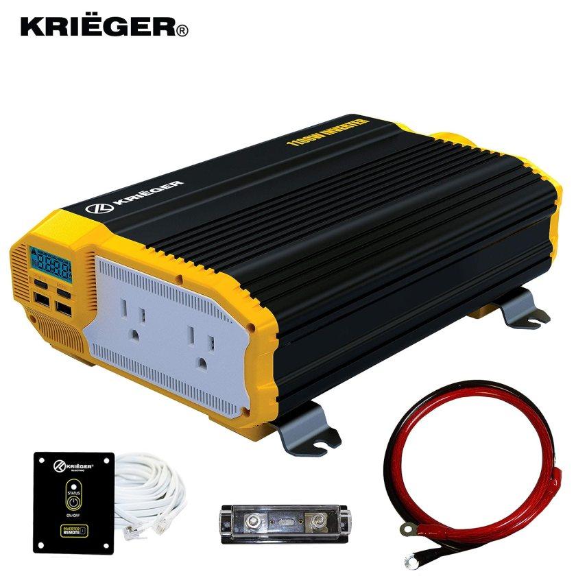 KRIËGER 1100 Watt 12V Power Inverter