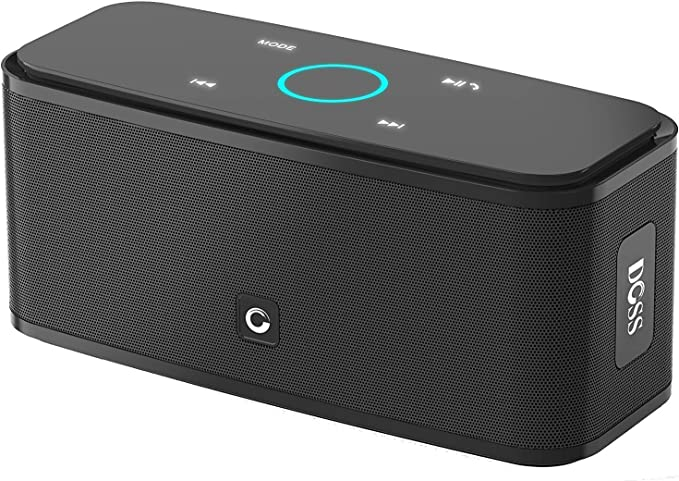 DOSS SoundBox Touch Wireless Bluetooth V4.0 Portable Speaker with HD Sound and Bass, 12H Playtime, Built-in Mic, Portable Wireless Speaker Compatible with Phone, Tablet, TV and Gift Ideas (Black)
