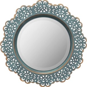 Stonebriar Round Metal Lace Wall Mirror