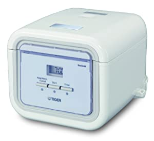Tiger Corporation JAJ-A55U WS 3-Cup Micom Rice Cooker and Warmer with Tacook Plate