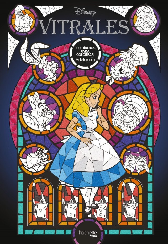 Arteterapia. Vitrales Disney (Hachette Heroes - Disney