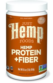 Just Hemp Foods Hemp Protein Powder Plus Fiber, 16oz; Non-GMO Verified with 11g of Protein & 13g of Fiber per Serving