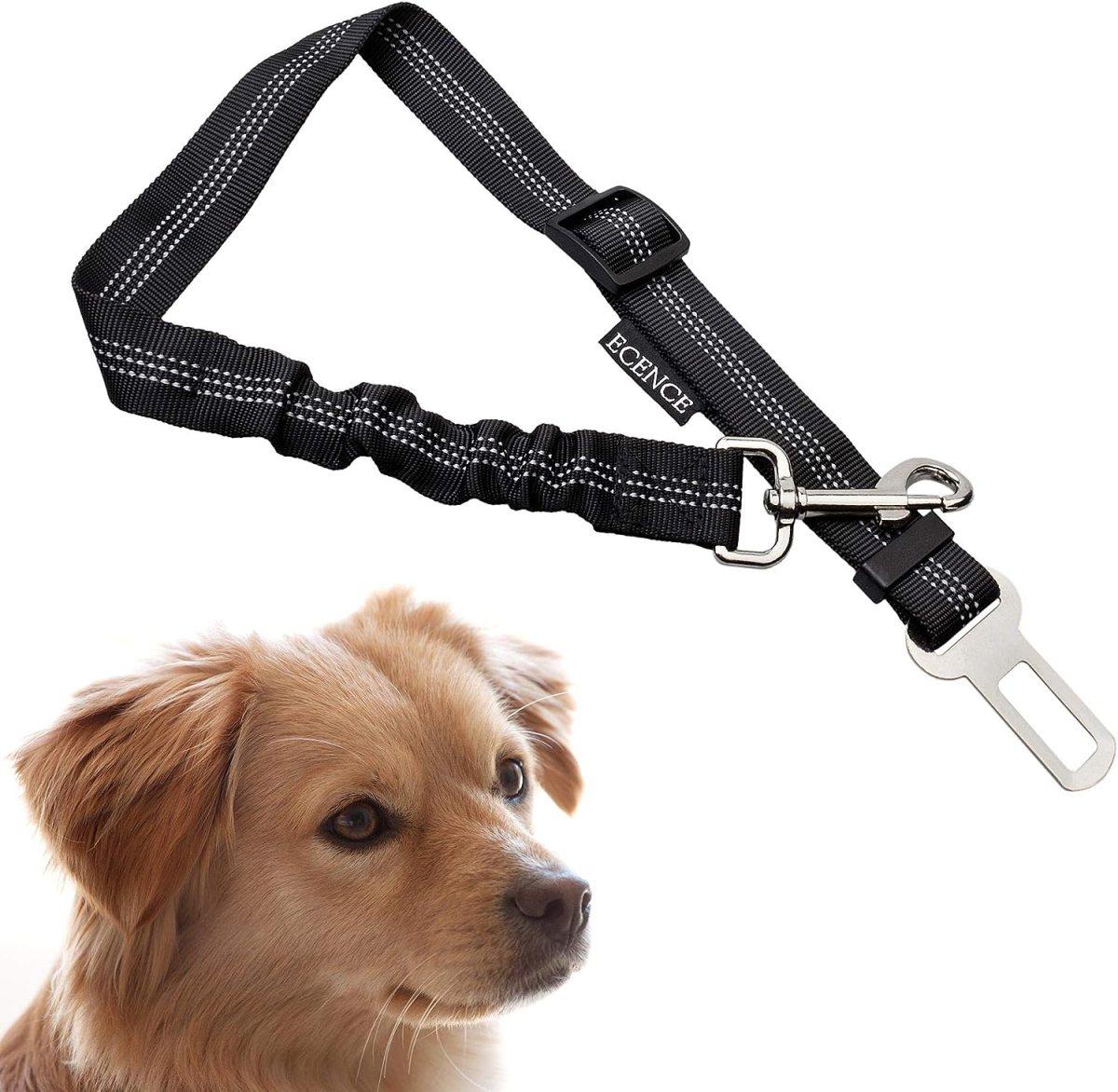 ECENCE 1x cinturón de Seguridad para Perro cinturón elástico para Mascotas 11020109