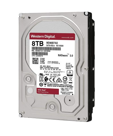 WD HDD 内蔵ハードディスク 3.5インチ 8TB WD Red NAS用 WD80EFAX 5400rpm 3年保証