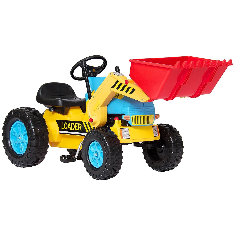 Kids Pedal Ride On Excavator Front Loader Truck