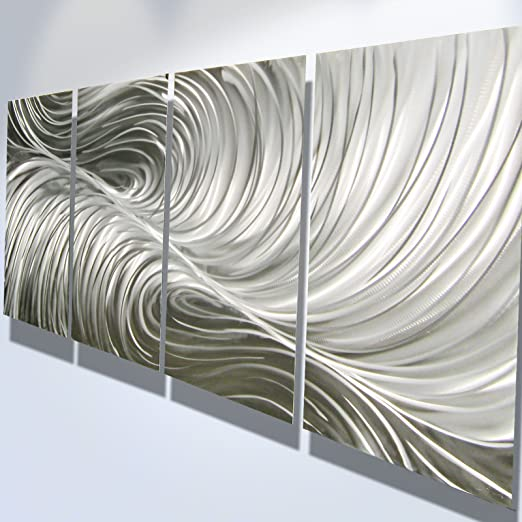 Amazon Com Miles Shay Metal Wall Art Modern Home Decor Contemporary Abstract Wall Sculpture Echo Home Kitchen