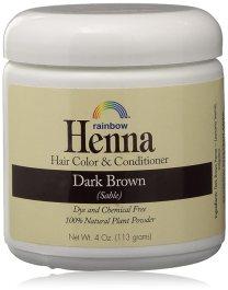Rainbow Henna Persian Dark Brown Hair Color 4 Oz, (2 pack)