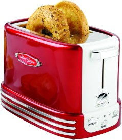 Nostalgia New and Improved Wide 2-Slice Toaster, Perfect For Bread, English Muffins, Bagels, 5 Browning Levels