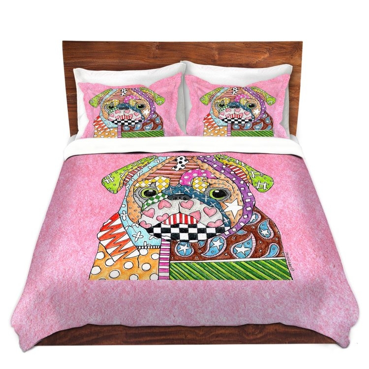 Pug Bedding King Set
