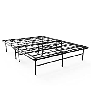 Zinus 14 Inch Elite SmartBase Mattress Foundation / for Big & Tall / Extra Strong Support / Platform Bed Frame / Box Spring Replacement / Sturdy / Quiet Noise Free / Non-Slip, Full