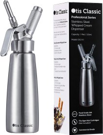 Amazon.com: Whipped Cream Dispenser Stainless Steel - Professional ...